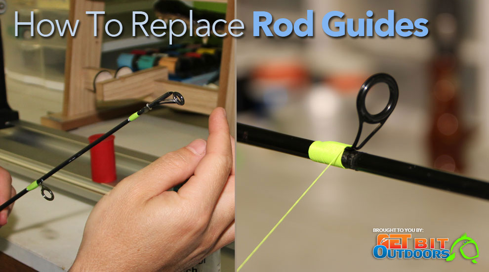 How to install fishing rod ferrules for Fishing rod guide repair
