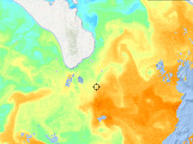 How To Use Sea Surface Temperature Charts To Find Fish FISHTRACKCOM - Satellite fishing maps