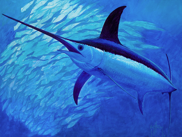 Artist of the month guy harvey fishtrack com for Harvey s paint and body