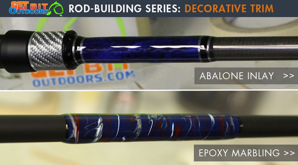 Rod building how to add decorative trim fishtrack com for Custom fishing rod building