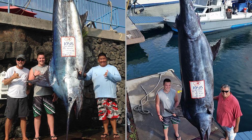 Fishing report a grander in kona fishtrack com for Oceanside pier fishing reports