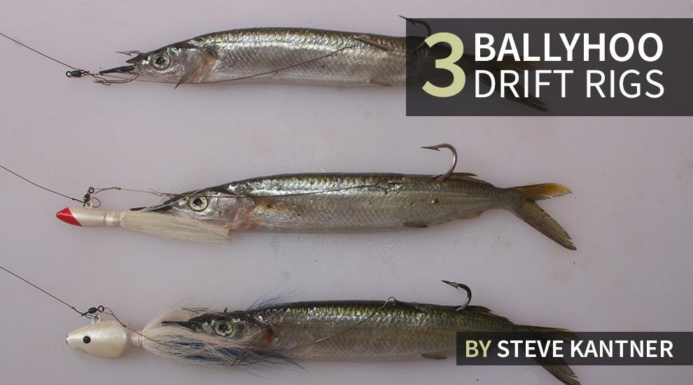 How to Build Three Ballyhoo Drift Rigs | FISHTRACK COM