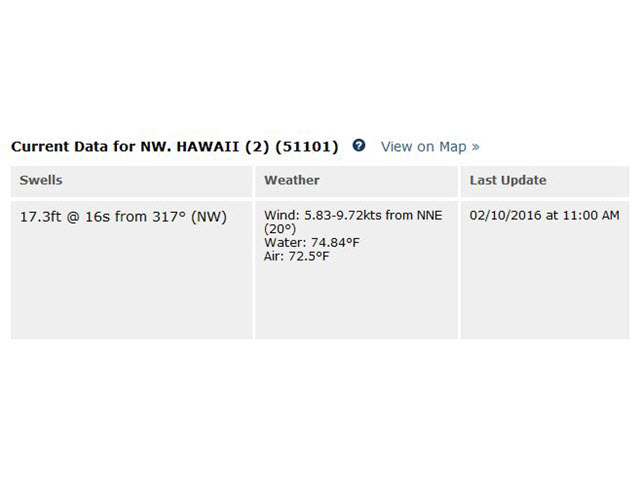 11AM UPDATE: HAWAII REAL TIME BUOY INFO | SURFLINE COM