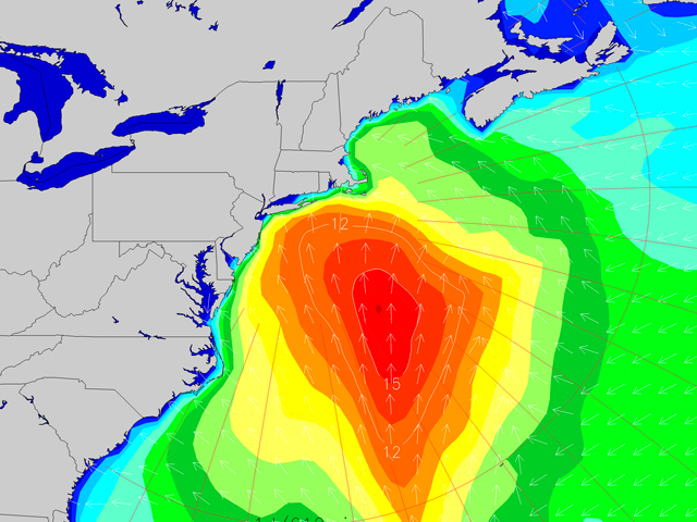 Coastal Low Delivers Solid Surf To Us East Coast