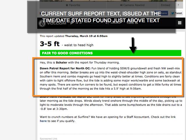 UNDERSTANDING SURFLINE'S SURF REPORTS/SHORT-TERM FORECASTS