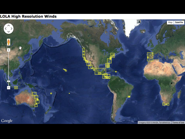 Local Wind Map.Understanding High Res Wind Models Surfline Com