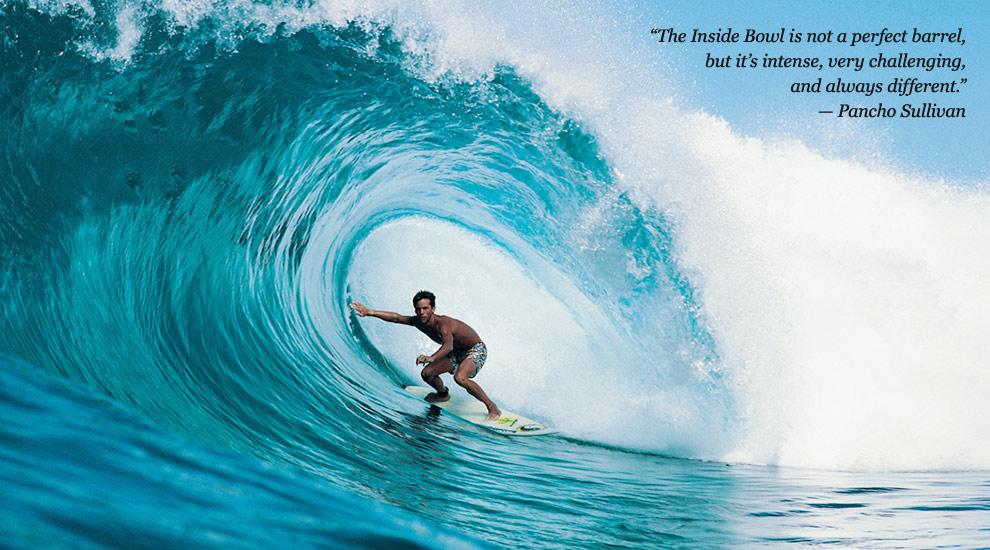 MECHANICS OF SUNSET BEACH SURFLINECOM - Surfing inside 27 second long barrel wave