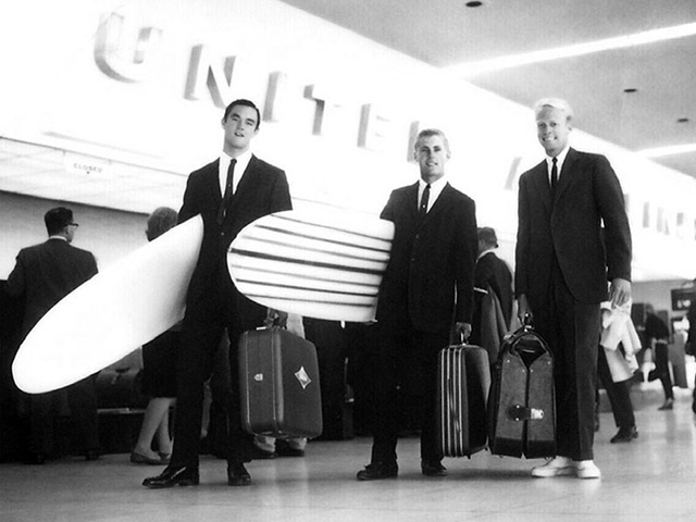 Robert August Mike Hynson And Bruce Brown Dressed For Success On Their Journey To South Africa In 1963 Photo Courtesy SHACC Endless Summer