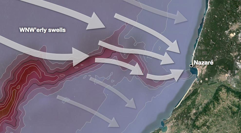 SPOT CHECK NAZARÉ SURFLINECOM - Portugal map nazare