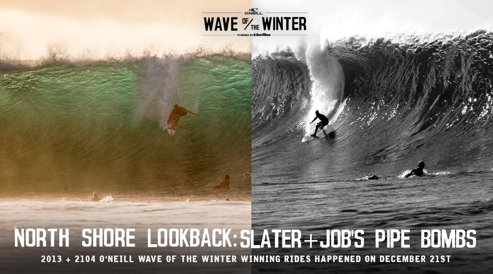 North Shore Lookback Slater Job S Pipe Bombs Surfline Com
