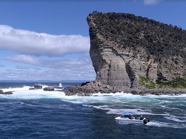 falling rock at shipstern bluff surfline com