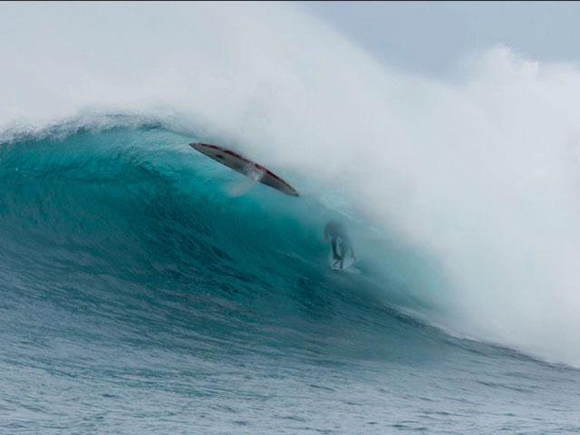 Koa Rothman Hit In Head By Surfboard