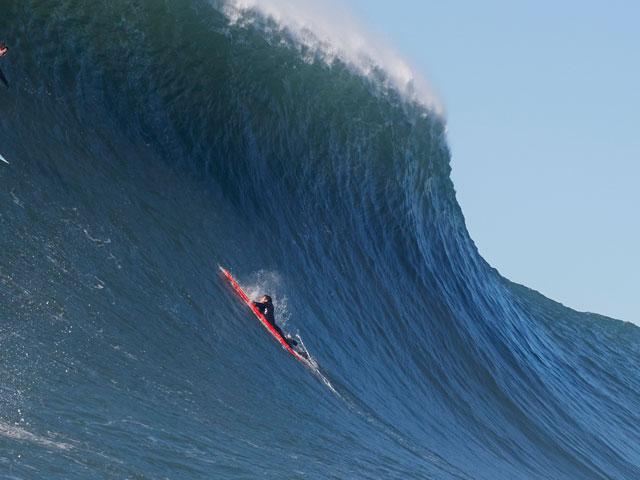 Francisco Porcella Caught Inside At Mavericks Captured By Derek - Surfing inside 27 second long barrel wave