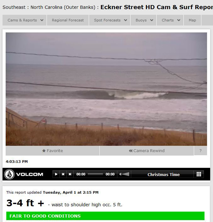 Outer Banks Nc Seeing Fun Surf On Tuesday Surfline