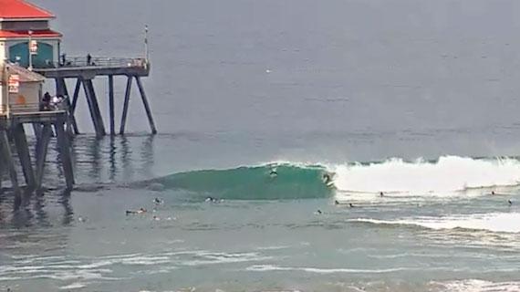 Cam Rewind of the Day: Huntington Beach Pier 134978 | SURFLINE COM